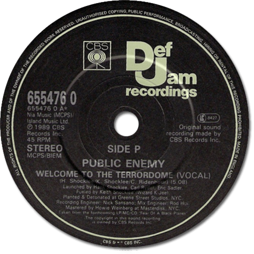 Black to the Music - Public Enemy - 1989 Welcome To the Terrodome