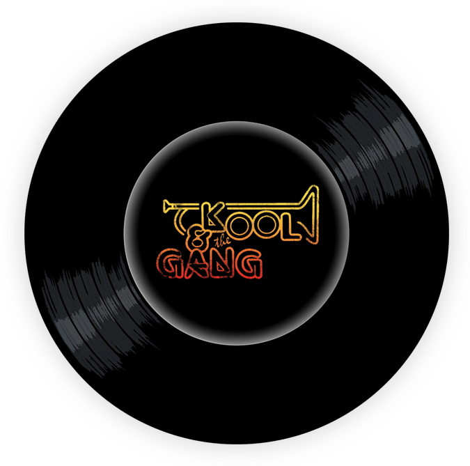 Black to the Music - Kool & The Gang logo header