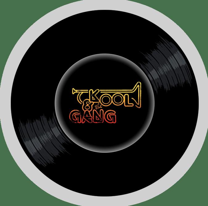 Black to the Music - Kool & The Gang logo header