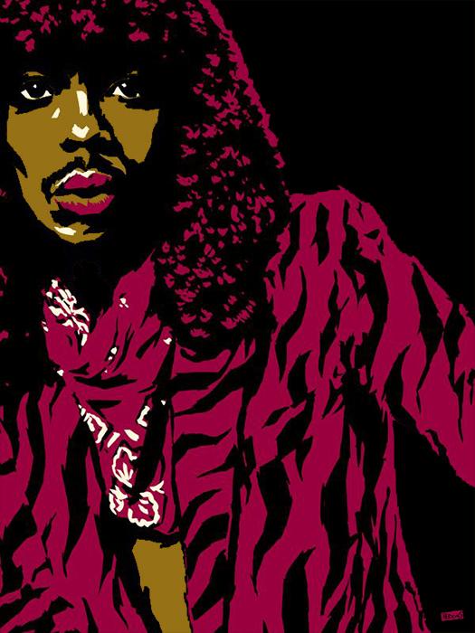 Black to the Music - Rick James - 10 - illustration Rick James