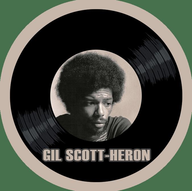 Black to the Music - Gil Scott-Heron logo header