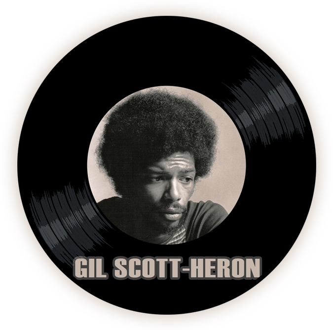 Black to the Music - Gil Scott-Heron logo header