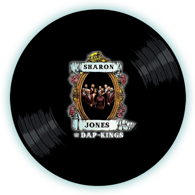 Black to the Music - Sharon Jones and the Dap-Kings - logo header