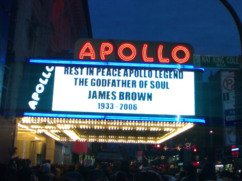 Black to the Music - James Brown A13 - RIP. JB - Apollo Theater