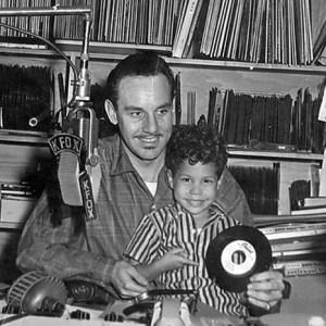 Black to the Music - Johnny Otis - 17 Johnny Otis on the air in 1957 with son Shuggie - (c)University Of Minnesota Press