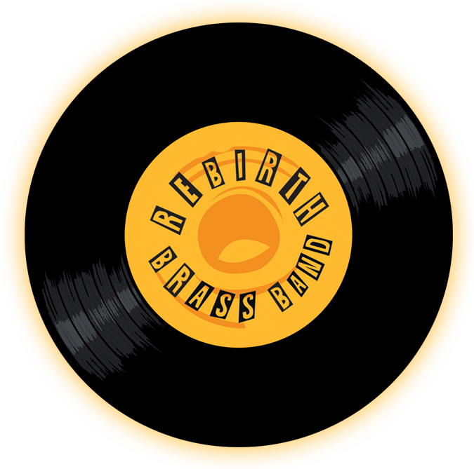 Black to the Music- Rebirth Brass Brand logo header