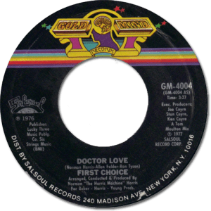 Black to the Music - 45t First Choice - Dr Love