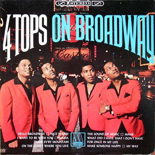 Black to the Music - The Four Tops - LP 06-1967 On Broadway