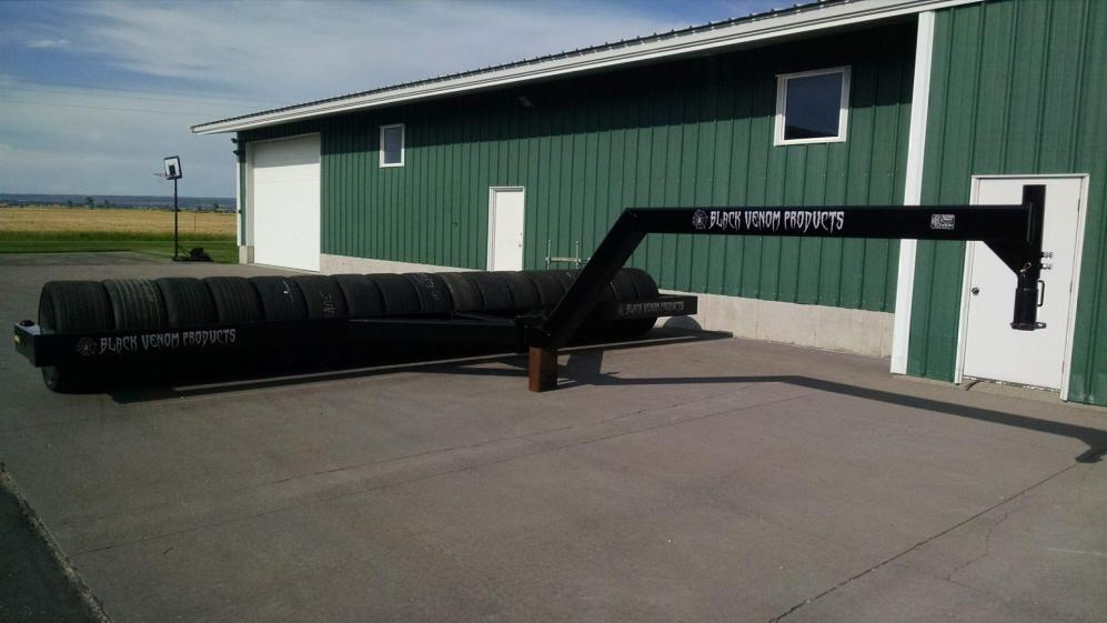 24 ft tire roller with gooseneck hitch