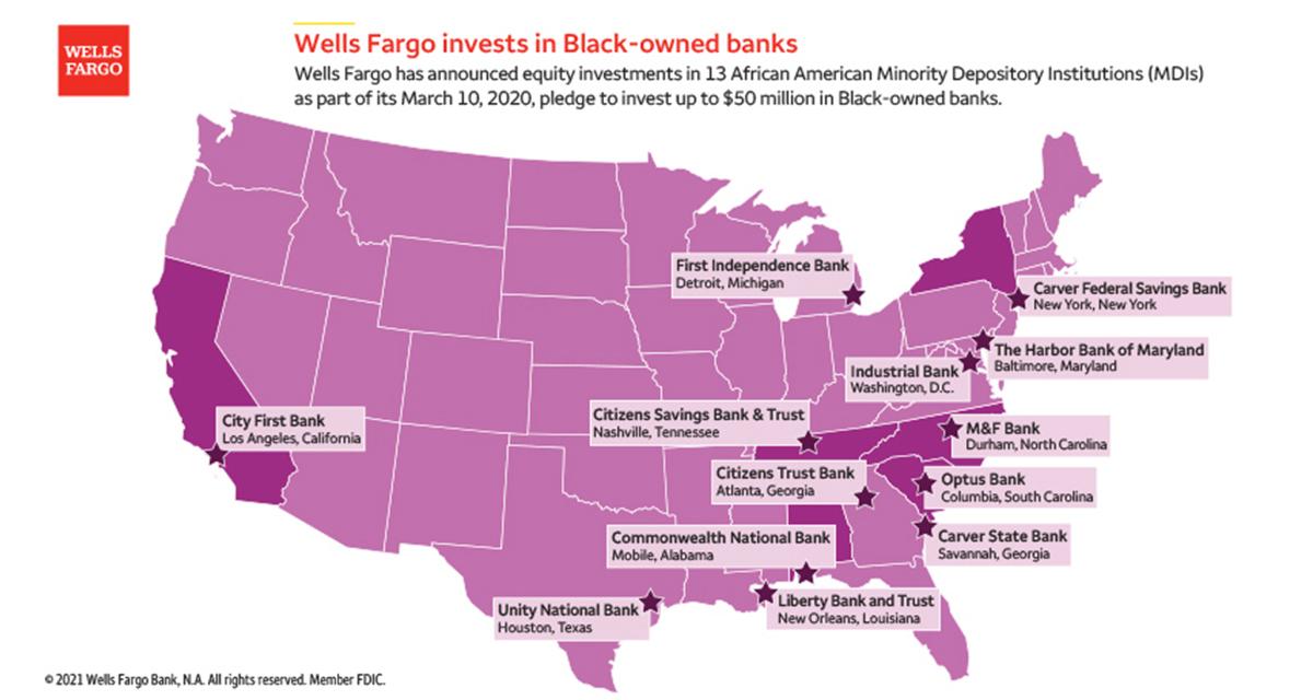 Wells Fargo Banking Map (Source: Wells Fargo & Company)
