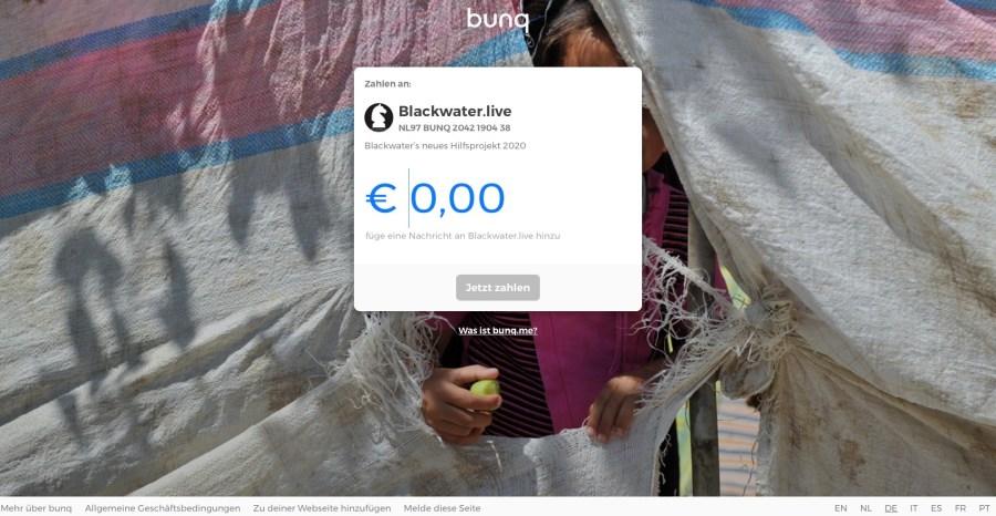 Blackwater.live - bunq me Ziellink