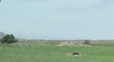 Der Berg Hermon im Hintergrund.
