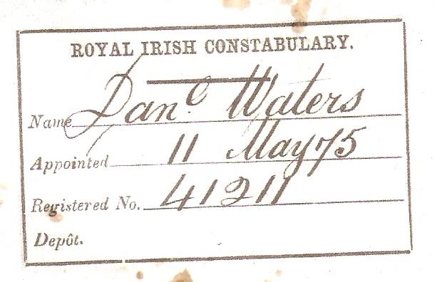 Dan Waters RIC card