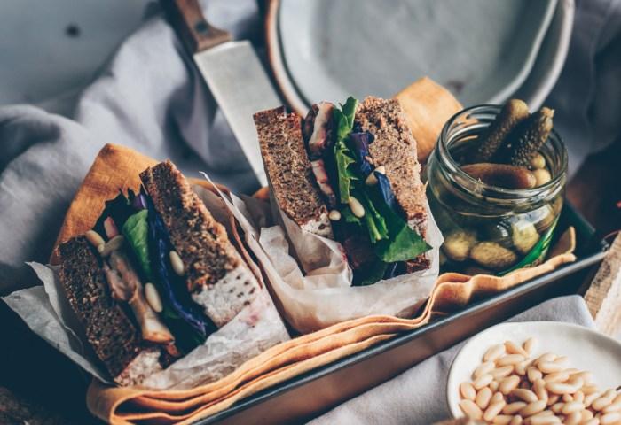 Russian Inspired Rye Bread Sandwich Blackwhitevivid