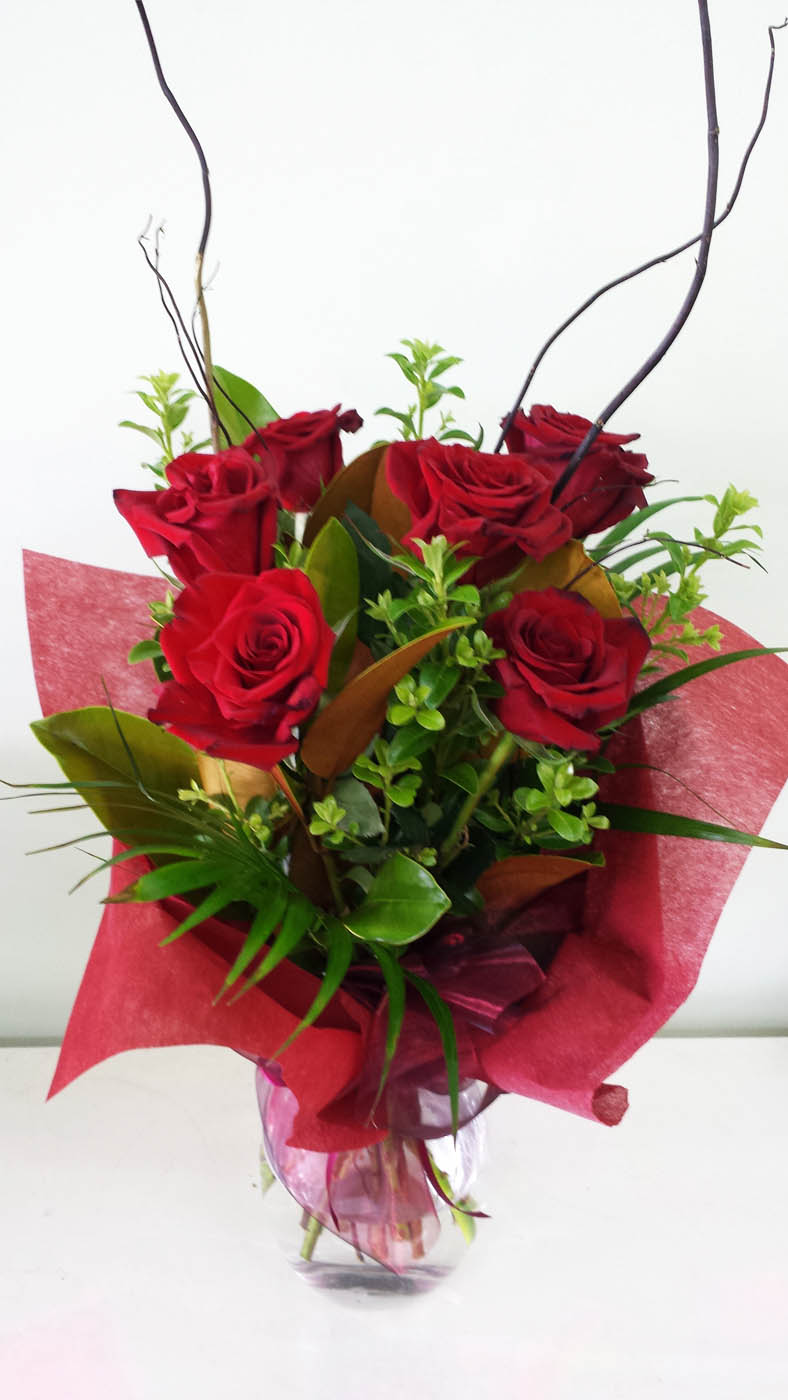 Rose Bouquet 6 Stems Bouquets Adelaide Amp Hills Delivery