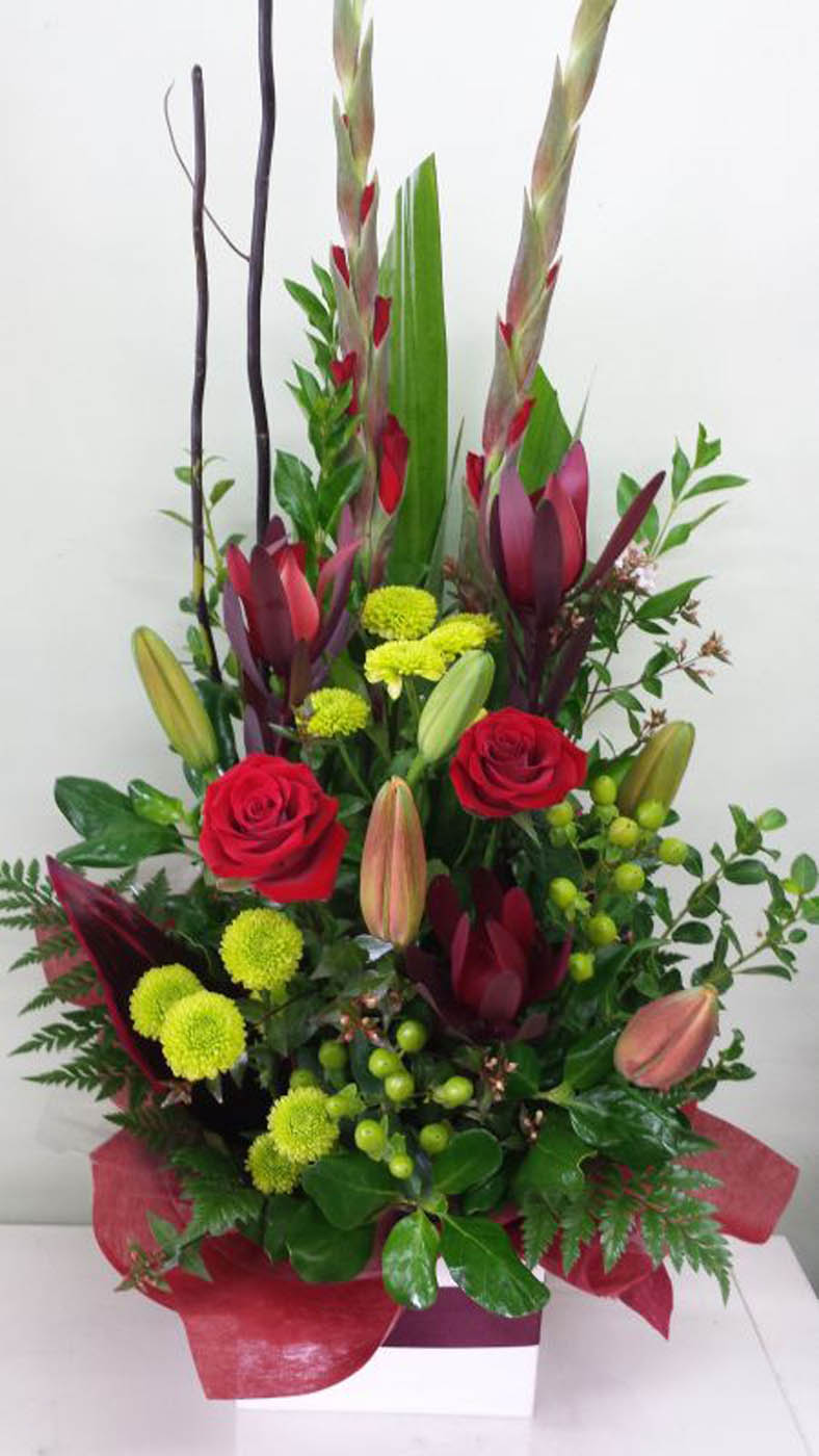 Red Romance Flower Arrangements Adelaide Amp Hills Delivery