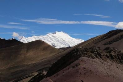 Wunderschöner Ausblick auf den Ausangate-Gletscher, der auf 6384 Metern über Meer thront.