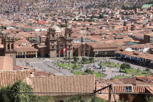 Aussicht auf den Plaza de Armas