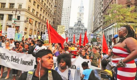 Black DNC Resistance March via mic dot com