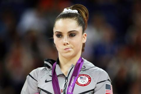"McKayla Maroney's famous ""Not Impressed"" face."