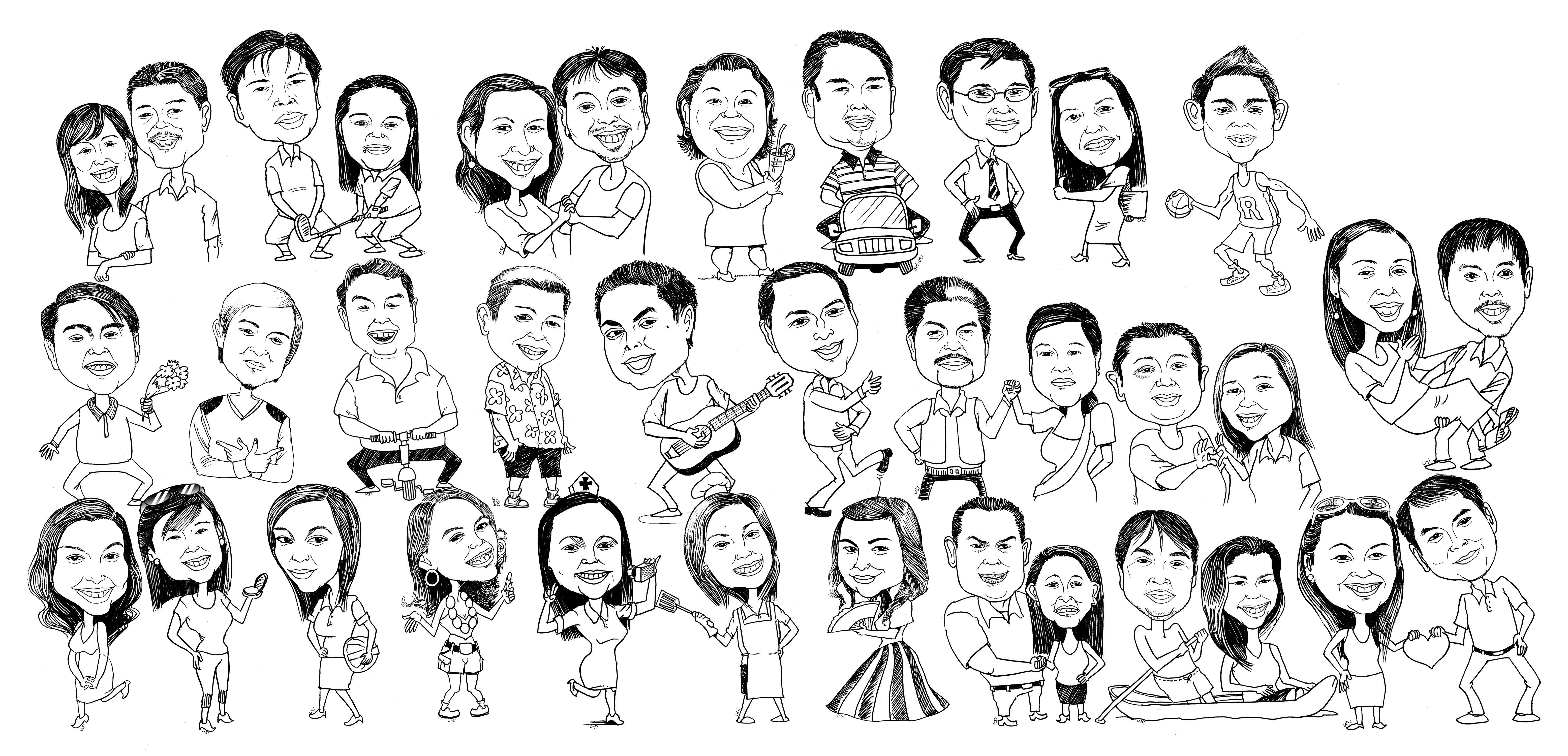 Caricatures By Pinoy Cartoonist Bladimer Usi