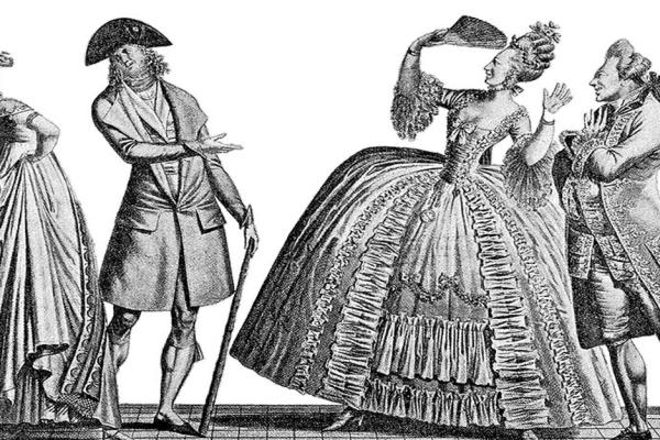 Dame su posebno cijenile pero crne čaplje, a gospoda su voljela nositi  tabaro; bilo je to doba kad je Sabor morao zabraniti raskošno odijevanje