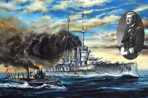 Tog jutra pred Pulom, na palubi tonućeg bojnog broda Viribus Unitis, hrabri admiral od smrti je spasio neprijatelje koji su ga potopili
