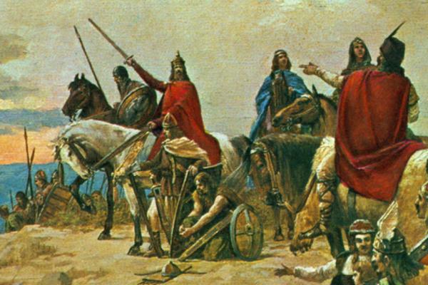 Bilo je to u stoljeću sedmom: negdje kod Dunava, Hrvati su tog dana potukli Avare i konačno stigli u svoju novu domovinu