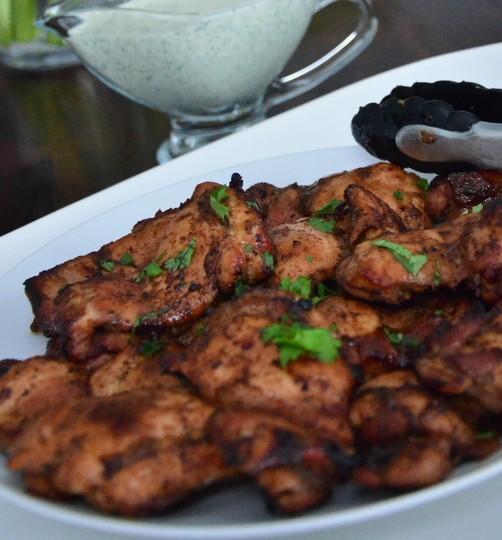 honey-chili chicken thighs