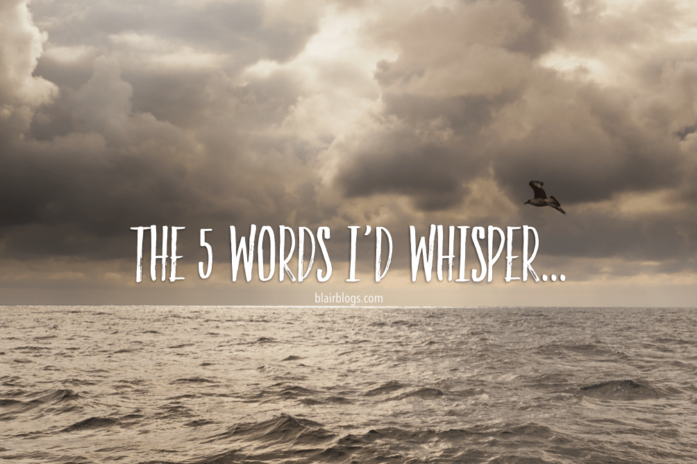 The 5 Words I'd Whisper…