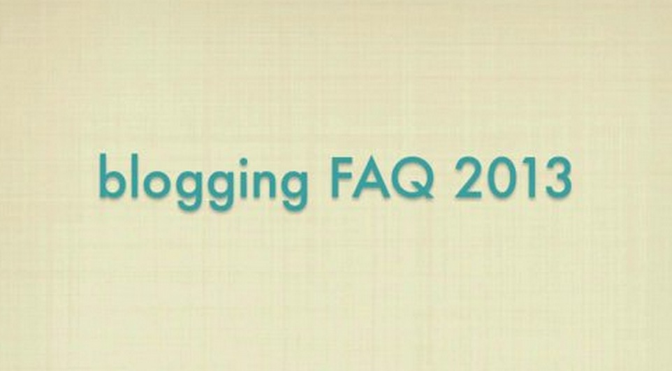 Blogging FAQ Video