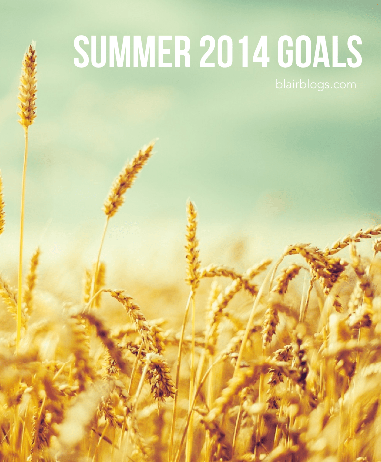 Summer Goals for 2014 | Blair Blogs