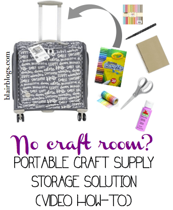No Craft Room? Here's a Portable Craft Storage Solution