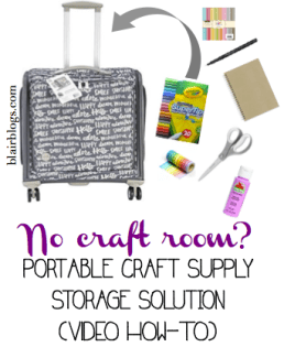 Easy portable craft storage solution | Blair Blogs