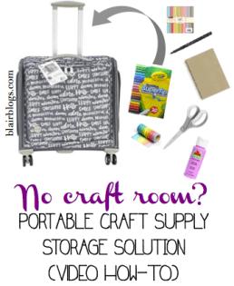 Easy portable craft storage solution | Blair Blogs