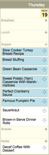 Recipes For a Thanksgiving Dinner for 2 | Blairblogs.com