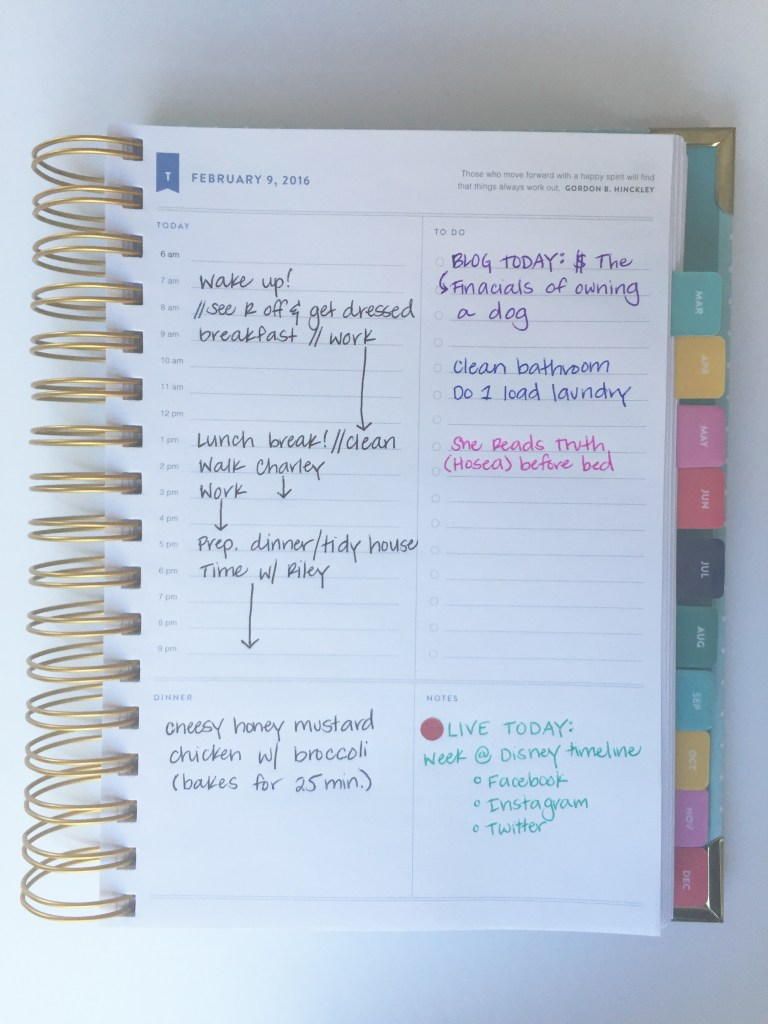 How I Use My Simplified Planner   Blairblogs.com