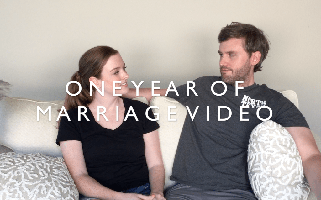 One Year of Marriage Video + Questions For Couples on Their One Year Wedding Anniversary | BlairBlogs.com