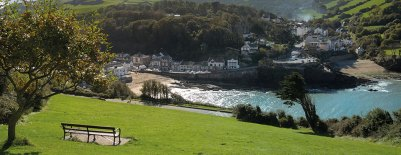 Combe Martin Bay in the sunshine