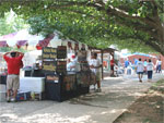 Vendors under the shade trees