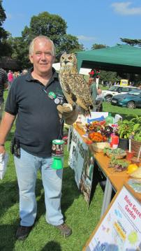 A visitor to the stall from Secret world- A rescued Indian owl!