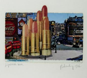 Lipsticks in Piccadilly Circus, London 1966 Claes Oldenburg born 1929 Presented by Hannah Wilke 1972 http://www.tate.org.uk/art/work/T01694