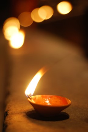Candles at a Festival in Varanasi - Version 2