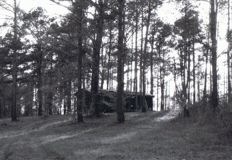 This cabin in the Piney Woods was the setting for the story of the short film entitled, The Land