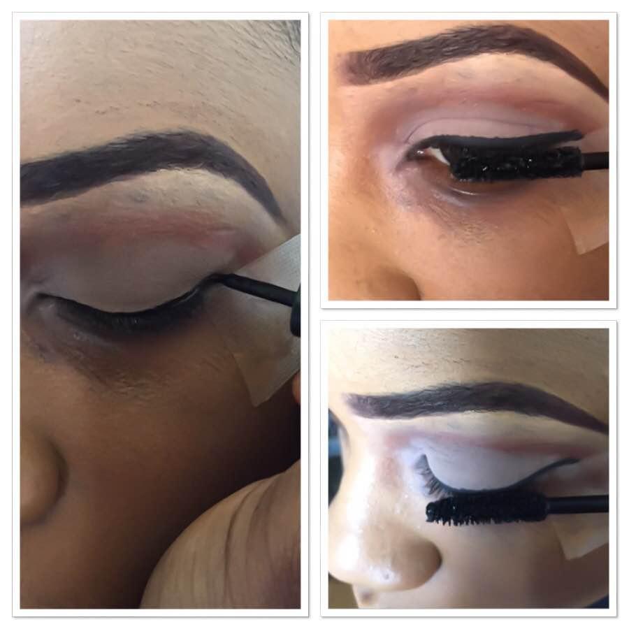 Maquillage des yeux pour lèvres foncées