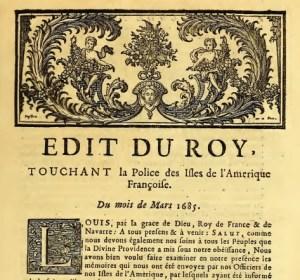 Edition du Code Noir de 1685