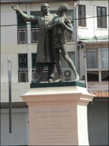 Statue de Victor Schoelcher à Cayenne