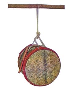 Le sembula utilisé chez les Kali'na (tribu amérindienne de Guyane)