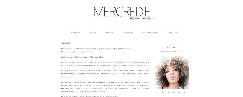 Zoom sur Mercredie, une blogueuse mode beauté au site très ludique