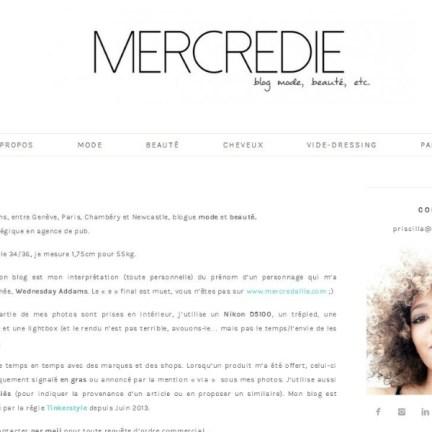 Le blog de Mercredie/ mercredi.com